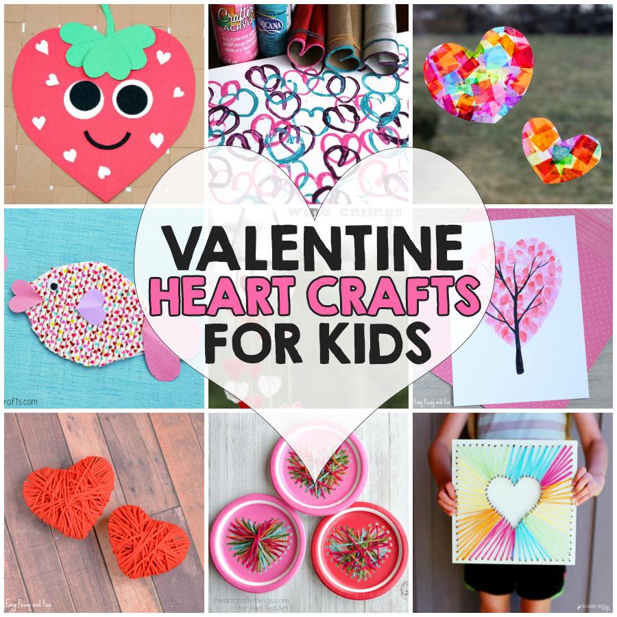 Valentine Heart Crafts For Kids