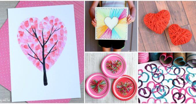 14 Valentine's Day Heart Crafts For Kids