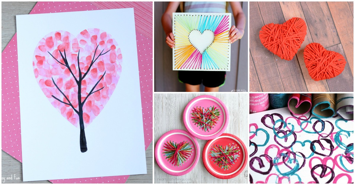 Handprint Valentine Craft