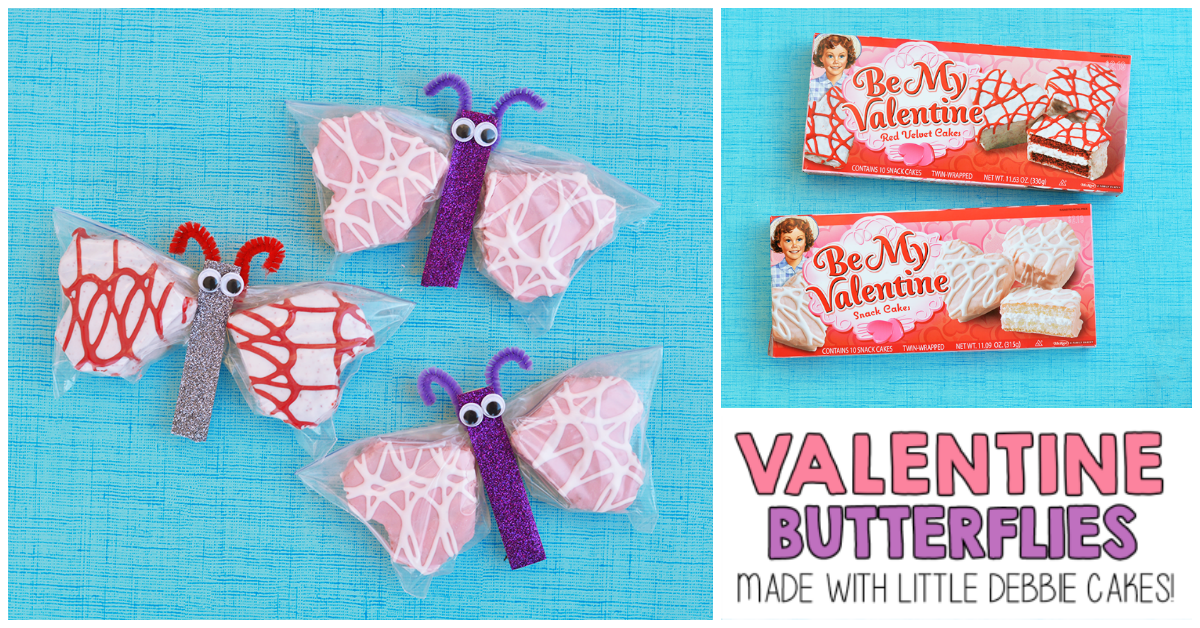 Valentine Snack Cakes Butterfly Treat I Heart Arts N Crafts