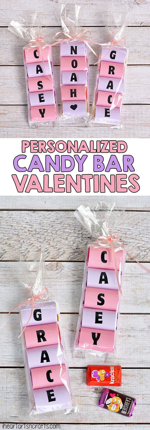 Personalized Candy Bar Valentines