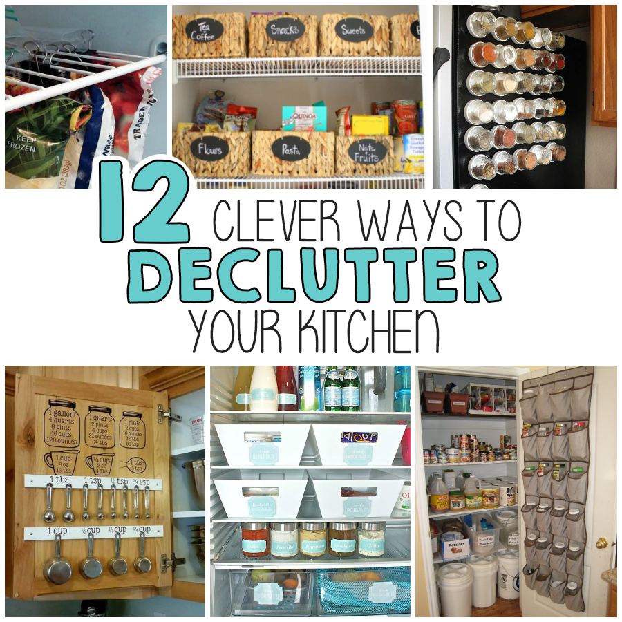 12 Clever Ways To Declutter Your Kitchen - I Heart Arts n Crafts