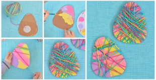 Yarn Wrapped Easter Egg Craft For Kids
