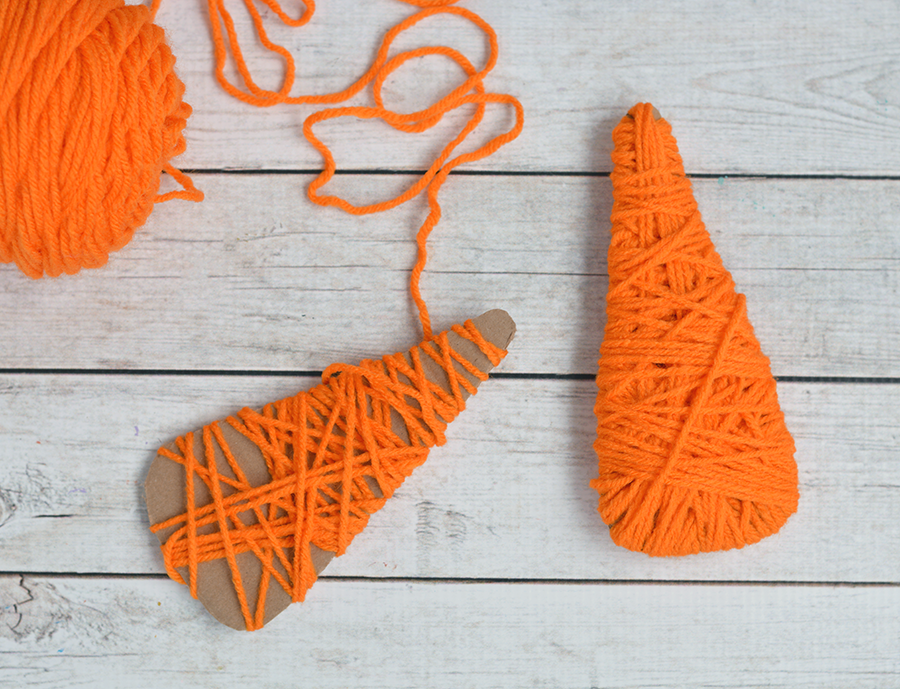 yarn wrapped carrot craft for kids yarn wrapped handprint carrot craft for i 7947