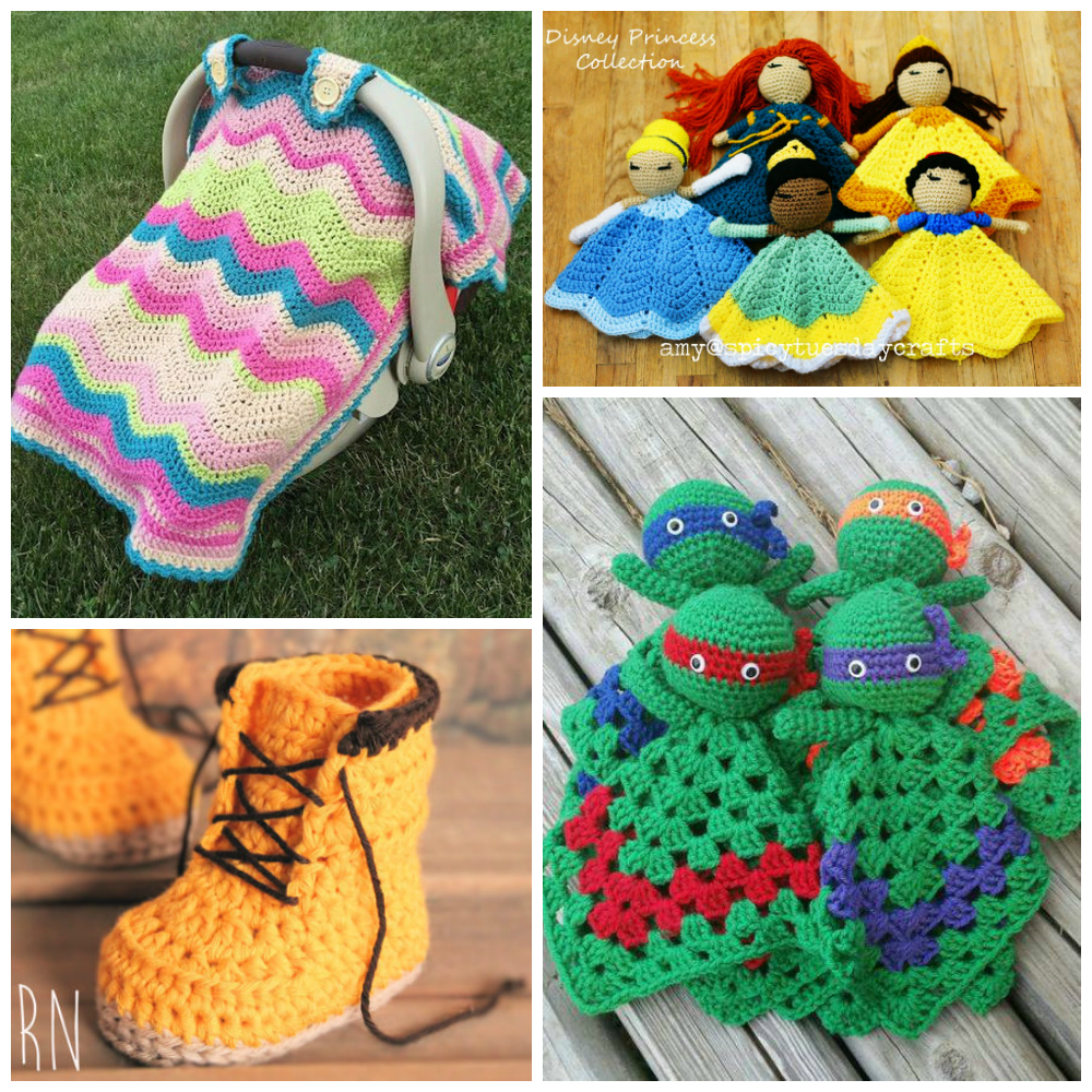 The cutest crochet patterns for babies i heart arts n crafts car seat cover and blanket 11 princess lovey patterns 12 crochet baby boot pattern 13 crochet ninja turtle lovey doll dt1010fo