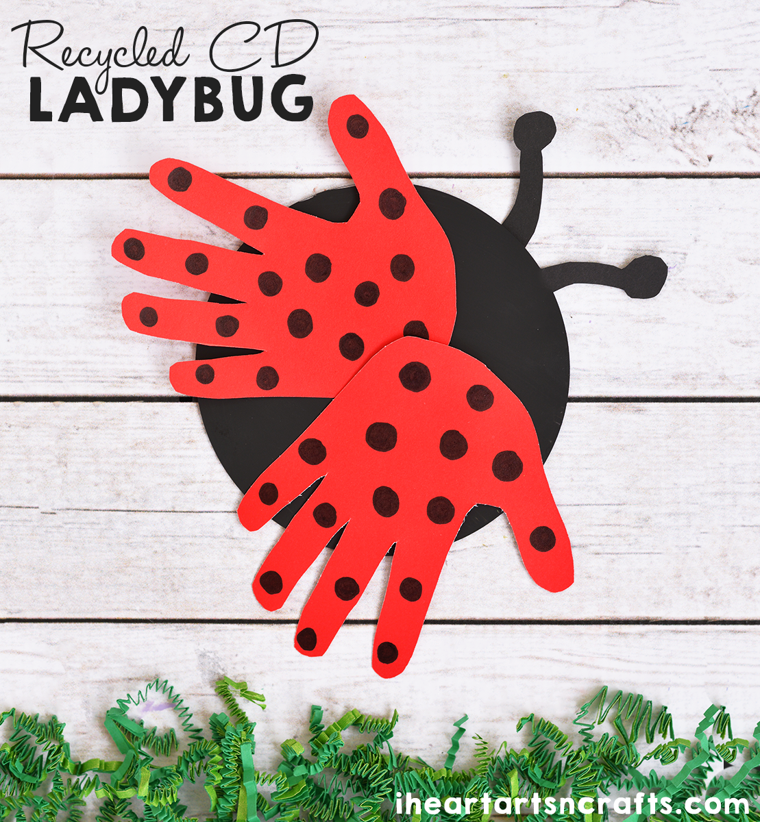 Recycled Cd Ladybug Craft For Kids I Heart Arts N Crafts