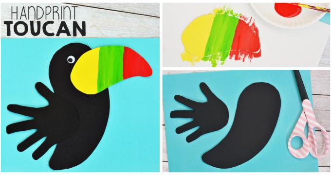 Handprint Toucan Craft For Kids