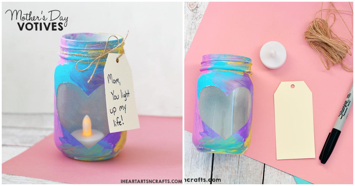 Mother S Day Mason Jar Votives I Heart Arts N Crafts