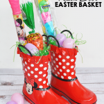 Rain Boot Easter Basket Idea