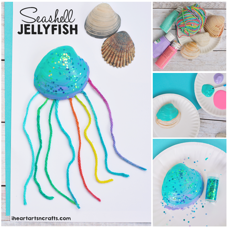 Seashell Jellyfish Craft For Kids I Heart Arts N Crafts