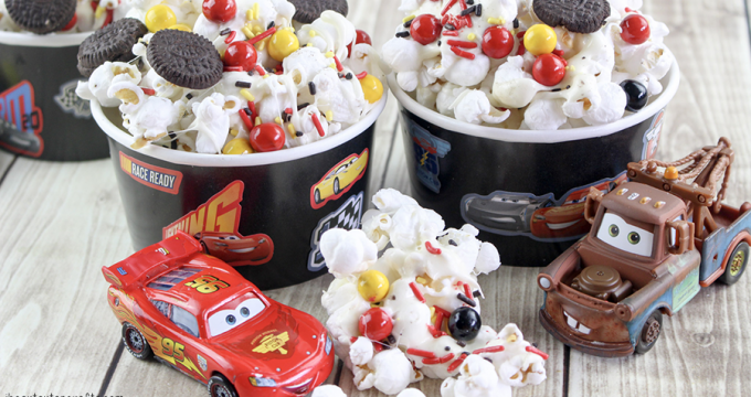 Cars 3 Sweet and Salty Popcorn Recipe