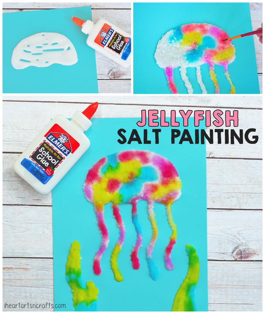 jellyfish salt painting activity for kids i heart arts n crafts