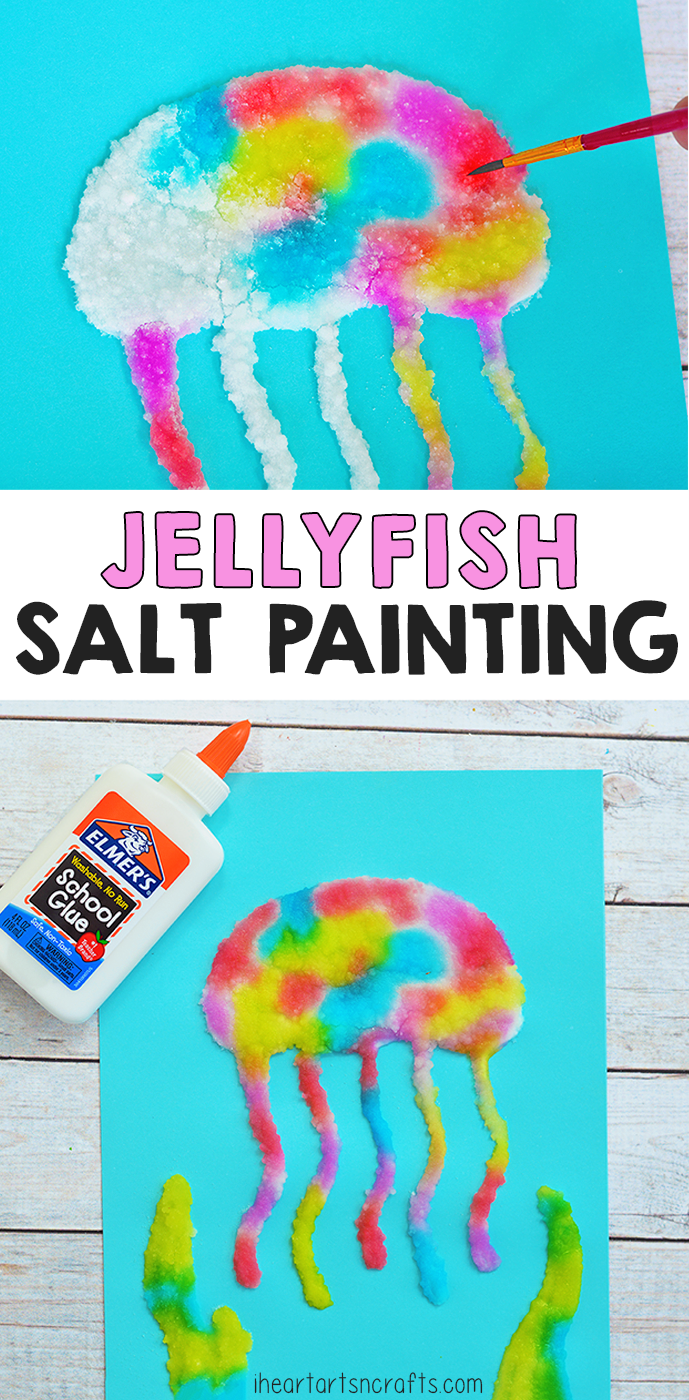 preschool summer craft ideas jellyfish salt painting activity for i arts n 5268