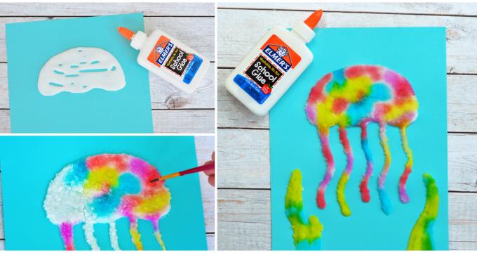 Jellyfish Salt Painting Activity For Kids