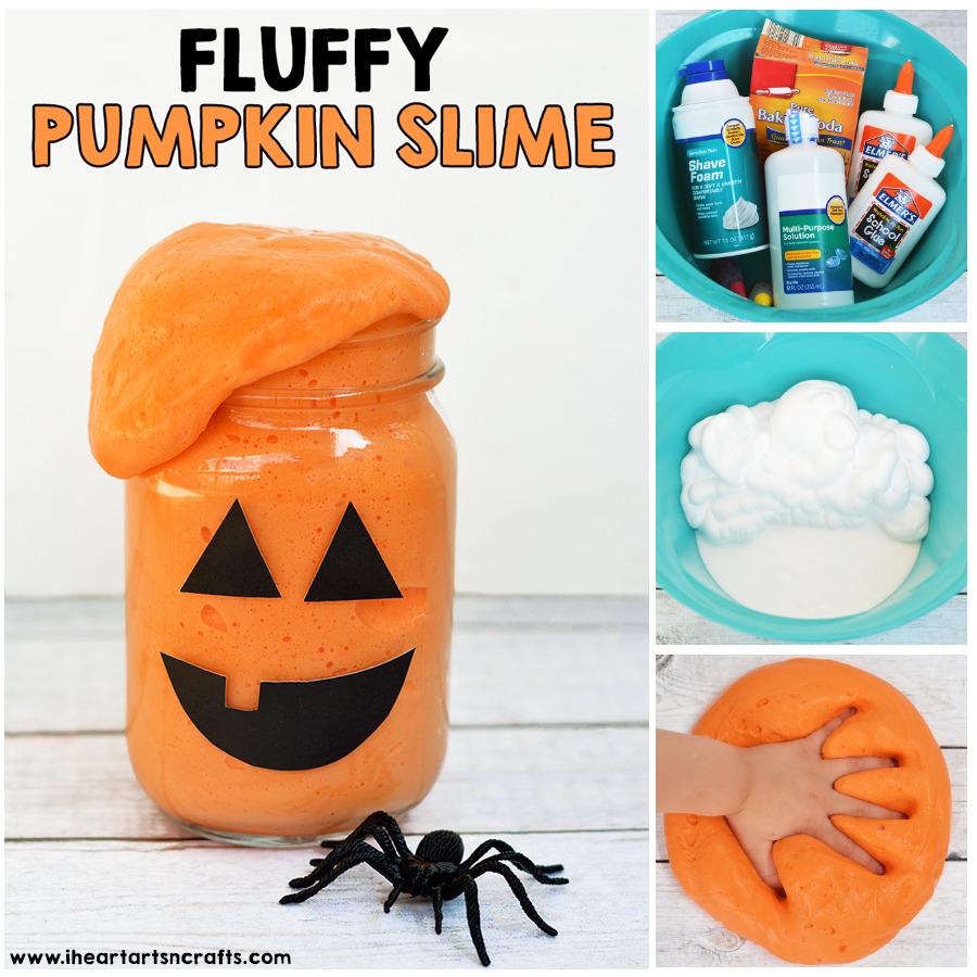 Halloween Craft Ideas | Fluffy Pumpkin Slime | Beanstalk Mums