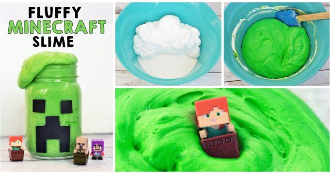 Fluffy Minecraft Slime Recipe