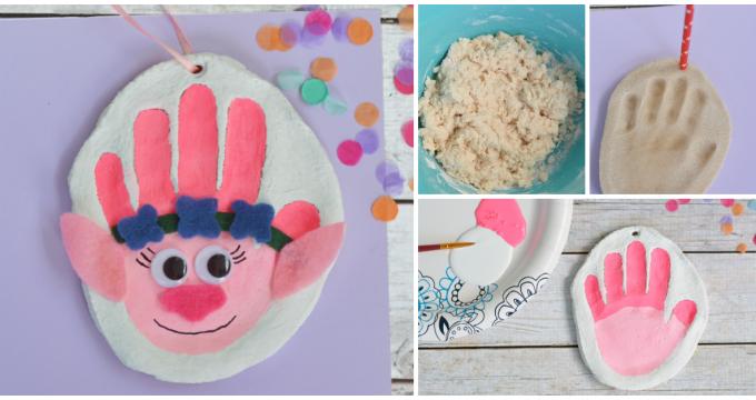 Handprint Trolls Salt Dough Ornament