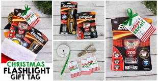 Christmas Flashlight Gift Tag – Stocking Stuffer Ideas For Dad