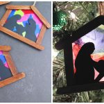 Stained Glass Nativity Ornament Craft For Kids