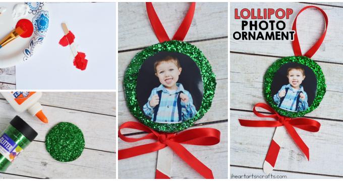 Lollipop Photo Ornament Craft For Kids