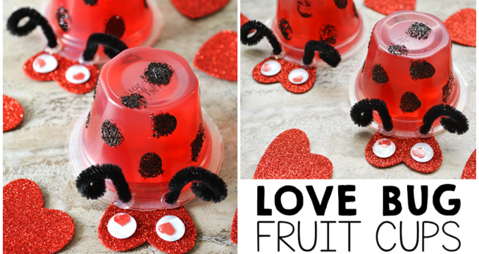 Love Bug Valentine Fruit Cups