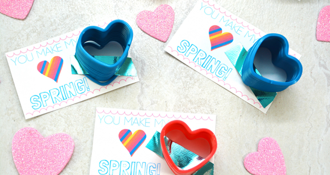 """You Make My Heart Spring"" Printable Valentine"