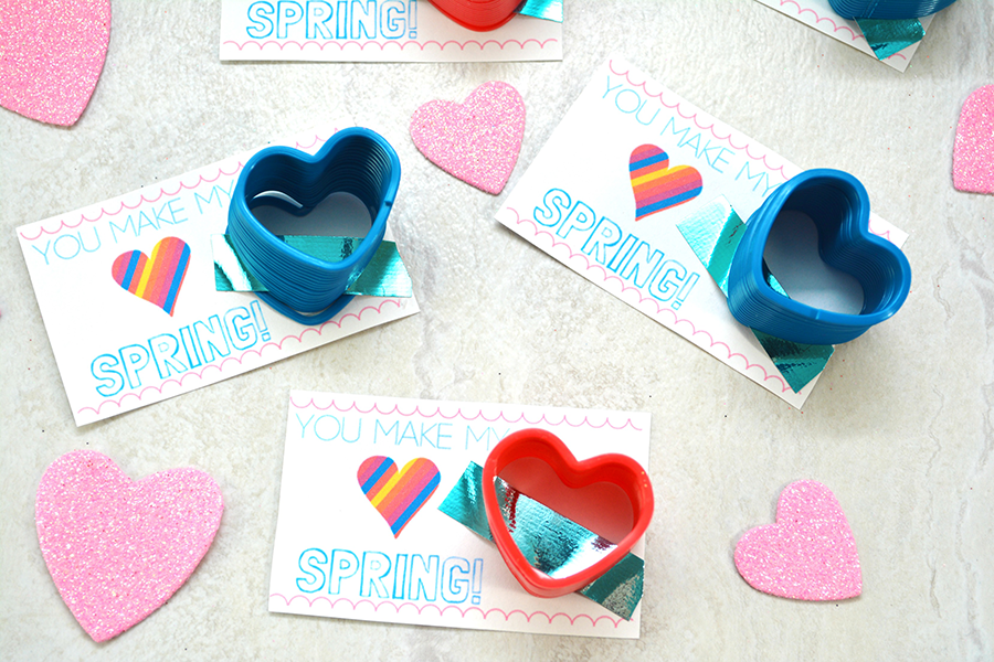 You make my heart spring printable valentine i heart for Art n craft from waste