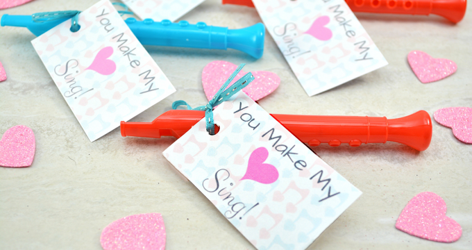 """You Make My Heart Sing"" Valentine and Printable"