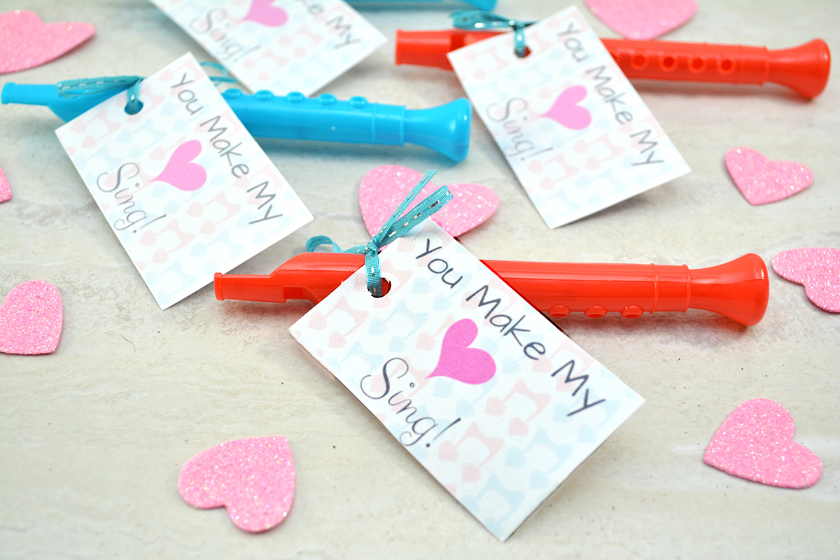 photograph regarding Printable Valentine Craft named Oneself Produce My Middle Sing\