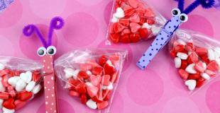 Valentine Butterfly Treat Bags