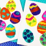 Sponge Painting Easter Egg Craft
