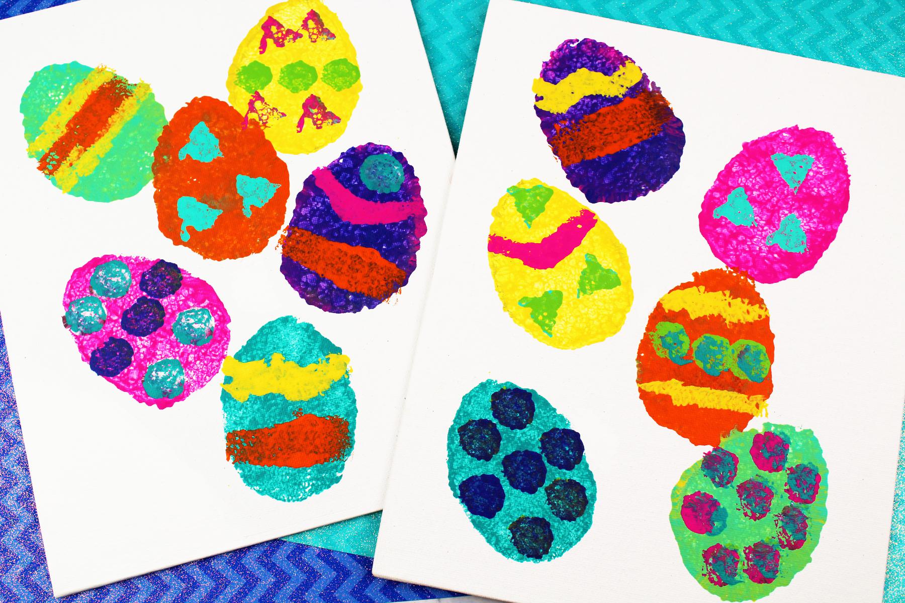 Sponge Painting Easter Egg Craft I Heart Arts N Crafts