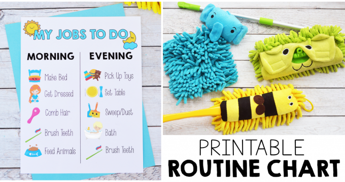 Printable Kids Morning and Evening Routine Chart
