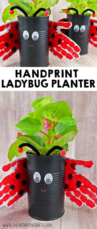 Handprint Ladybug Planter