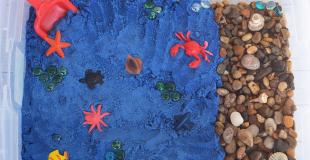Ocean Kinetic Sand Recipe