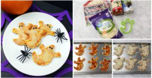 Mini Halloween Ghost Pizzas