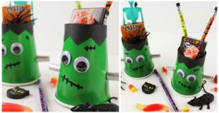 Frankenstein Halloween Treat Cups