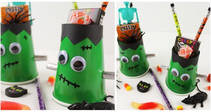 Frankenstein Halloween Treat Cups