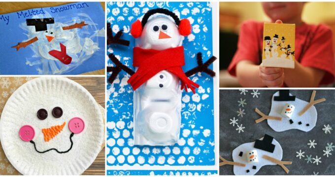 18 Easy Snowman Crafts for Kids To Make