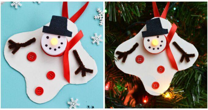Melted Snowman Tea Light Ornament