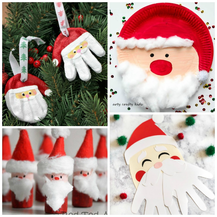 15 Creative Santa Crafts For Kids To Make I Heart Arts N Crafts