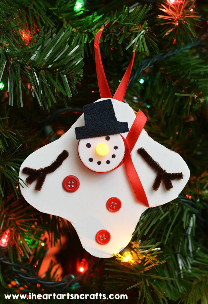 Melted Snowman Tea Light Ornament I Heart Arts N Crafts