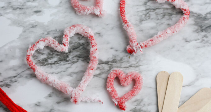 Crystal Hearts Valentines Science Experiment For Kids