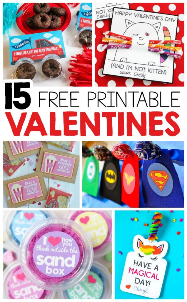 Here's a list of the best FREE printable Valentines for kids! Simple print and attach a small treat to hand out to your classmates.