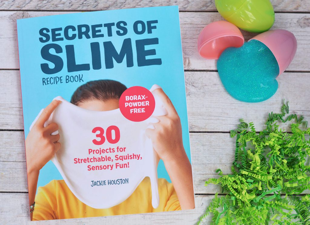 Make a DIY Slime Easter Basket that includes all of the materials needed for your child to get started making and creating their own slime creations!