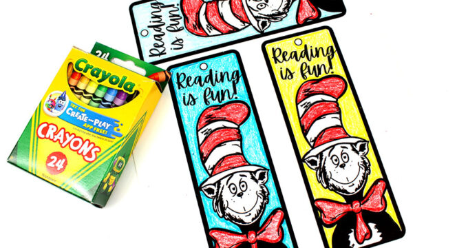 Free Printable Dr. Seuss Book Mark Coloring Activity For Kids