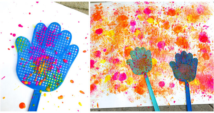 Fly Swatter Painting Activity