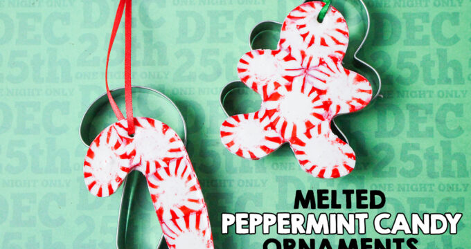 Melted Peppermint Candy Christmas Ornaments